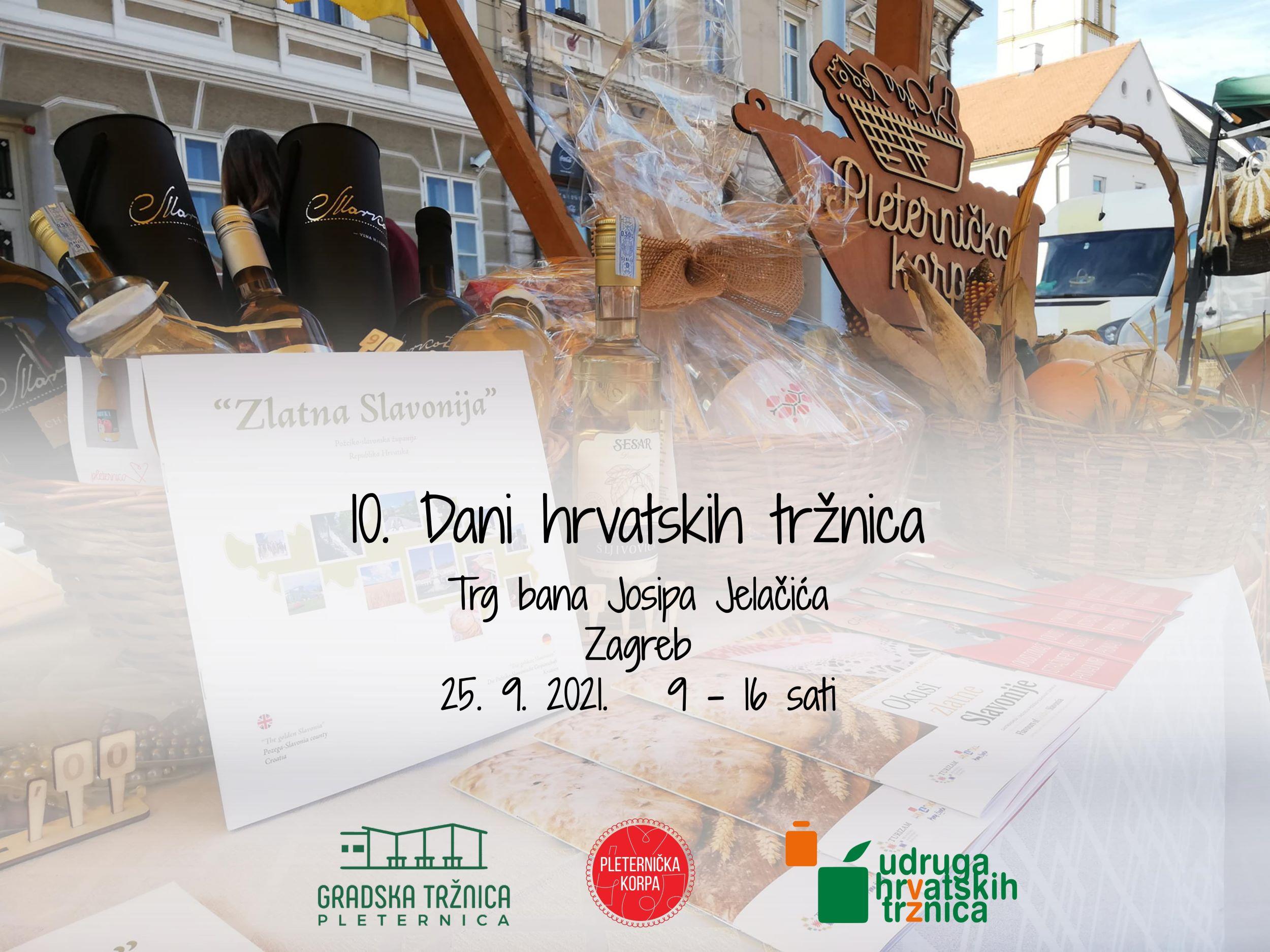 Pleternica sutra na Trgu bana Josipa Jelačića u Zagrebu – Dođite nas posjetiti!